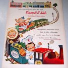 1955 Campbell Kids Birthday Celebration Toys Clothes 6 Page Print Ad