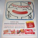 1956 Swifts Premium Franks Indian Art Color Print Ad