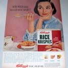 1956 Kelloggs Rice Krispies Color Print Breakfast Cereal Ad