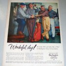 1956 Burlington Casual Wear Clothing Golf Themed Color Print Ad