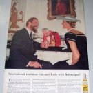 1956 Schweppes Quinine Water Color Print Ad