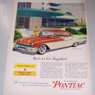 1956 Pontiac Star Chief 4 Door Catalina Color Print Car Ad