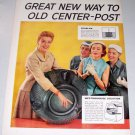 1956 Westinghouse Deluxe Laundry Twins Washer Dryer 2 Page Color Print Ad