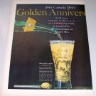 1958 Canada Dry Ginger Ale 2 Page Color Print Ad