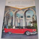 1958 Cadillac Convertible THE BREAKERS Color Print Car Ad