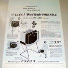 1958 Sylvania Black Knight Portable Television Print TV Ad