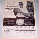 1958 Munsingwear Briefs Print Ad Celebrity NBA Lakers George Mikan Basketball