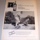 Teachers Scotch Whiskey Golf Gene Sarazen 1960 Print Ad