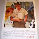 Arrow Futura Sport Shirt 1961 Color Print Ad