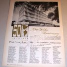 Pan American Insurance Company Golden Anniversary 1961 Print Ad