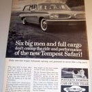 1961 Pontiac Tempest Safari Wagon Automobile Print Car Ad