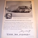 1961 Ford Galaxie Racing Print Car Ad Johnny Mantz Test Track Kingman Arizona