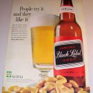 Carling Black Label Beer 1961 Color Print Ad People Try It