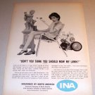 Insurance by North America Philadelphia 1961 Print Ad