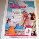 Liggett Myers LM Cigarettes 1961 Color Print Tobacco Ad