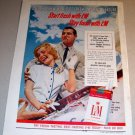 LM Cigarettes Liggett Myers 1961 Color Print Tobacco Ad