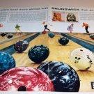 Brunswick Bowling Balls 1962 Color Print 2 Page Ad