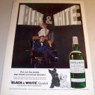 Black White Blended Whisky 1962 Color Print Whiskey Ad