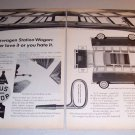1962 VW Volkswagen Station Wagon Automobile 2 Page Print Car Ad
