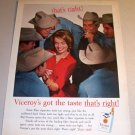 Viceroy Cigarettes Cowboys 1962 Color Print Tobacco Ad