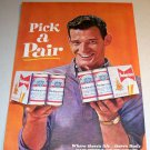 Budweiser Beer 6 Pack 1962 Color Print Ad Pick A Pair
