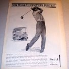 Fortrel Slacks PGA Golf Ben Hogan 1962 Rigor Sketch Art Print Ad