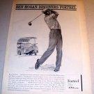 Fortrel Slacks PGA Golf Ben Hogan 1962 Rigor Sketch Art Print Ad
