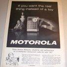 Motorola Model X34 6 Transistor Shirtpocket Radio 1962 Print Ad
