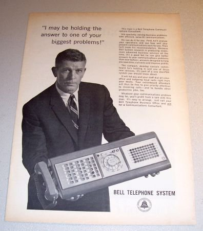 Bell Telephone Desktop Console Switchboard 1962 Print Ad
