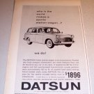 1963 Datsun Station Wagon Automobile Print Ad