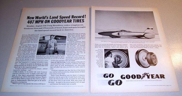 1963 Goodyear Tires Print Ad Spirit of America J-47 Jet