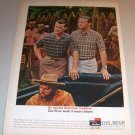1963 Dan River Shirts Pilgrams Indians Color Print Ad