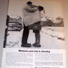 1963 Lufthansa German Airlines Winter Themed Print Ad