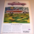 1963 Ford THunderbird Wagon Automobile Color Print Car Ad