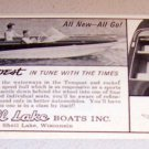 1963 Tempest Boat Shell Lake Boats Wisconsin Print Ad