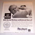 1963 Print Ad Macgregor DX Tourney Golf Balls PGA Golfer Jack Nicklaus