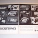 1963 Bell Telephone Business Communications 2 Page Print Ad
