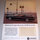 1964 Plymouth Fury Wagon Automobile Color Print Car Ad