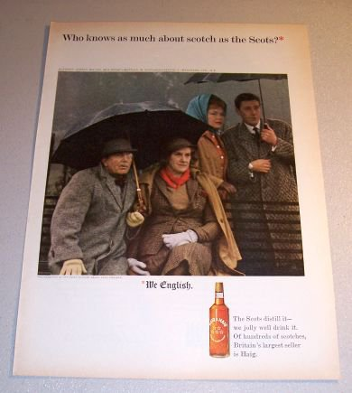 1964 Haig Haig Scotch Whiskey Color Print Ad Point To Point Races Kent England