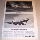 1964 Boeing 727 Jet Airliner Plane Print Ad