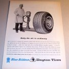 1964 Dayton Blue Ribbon Tires Air Pump Art Print Ad