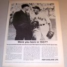 1964 New England Life Insurance Print Ad Red Sox Baseball Joe Cronin Lou Kolls
