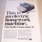 1965 Smith Corona Electra 110 Typewriter Print Ad