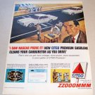 1965 Citgo Service Gasoline Color Print Ad Celebrity Ed McMahon Bridgehampton Road Track