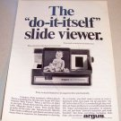 1965 ARGUS 693 Electromatic Slide Viewer Print Ad
