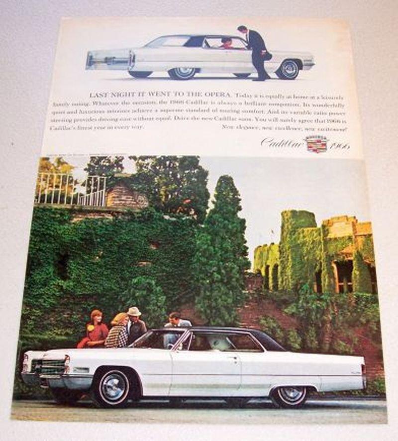 1966 Cadillac Coupe de Ville Automobile Color 1965 Print Car Ad