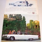 1966 Cadillac Coupe de Ville Automobile Color 1965 Print Car Ad