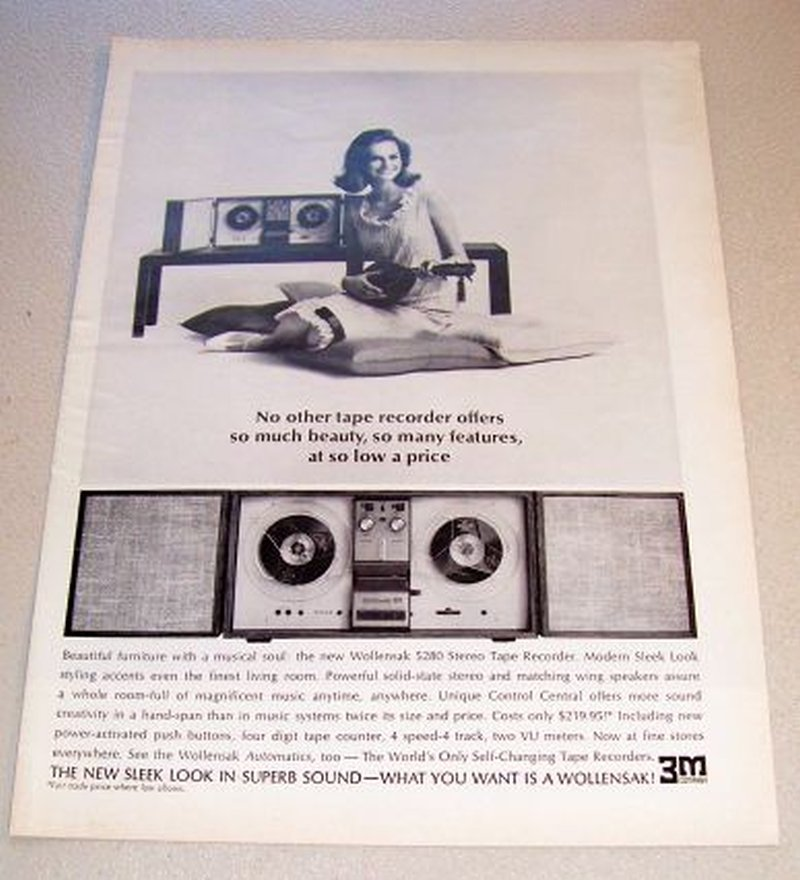 1965 Wollensak 5280 Stereo Tape Recorder Print Ad