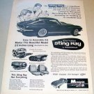 1965 Vintage Print Ad Monogram Scale Model Hobby Kit Corvette Stingray