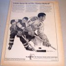 1965 Equitable Life Assurance Print Ad Montreal Canadians Hockey Maurice Richard